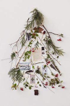 Sapin en branches et objets