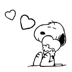 Snoopy Hold His Love Tight Coloring Pages
