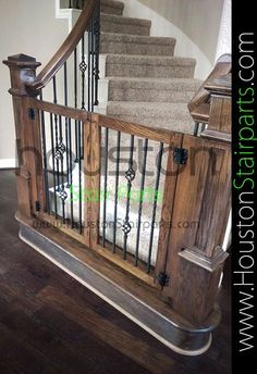 Home Remodeling Rustic Staircase Rework Houston Stair Balusters Gallery. >>> Find out even more by going to the picture link Baby Gate For Stairs, Diy Baby Gate, Stair Gate, Wood Baby Gate, Safety Gates For Stairs, Barn Door Baby Gate, Custom Baby Gates, Pet Gate, Dog Gates