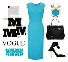 """""""Aqua"""" by outfitsloveyou ❤ liked on Polyvore featuring Roland Mouret, Gianvito Rossi, MICHAEL Michael Kors, Maison Margiela and Liz Claiborne"""