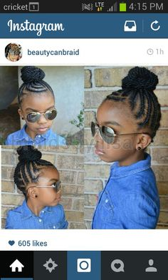 keep the little one's hair off her face for a cool summer. Lil Girl Hairstyles, Natural Hairstyles For Kids, Kids Braided Hairstyles, Princess Hairstyles, Kids Hairstyle, Braided Updo, Little Girl Braids, Black Girl Braids, Girls Braids