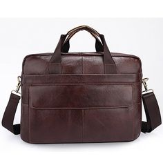 Men's Full Grain Leather Briefcase Messenger Shoulder Laptop Bag *** Details can be found by clicking on the image.