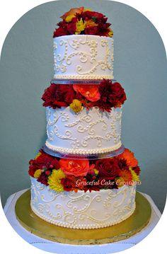 Elegant Fall Wedding Cake | Flickr - Photo Sharing!
