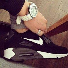 #black - #nike - watch sport