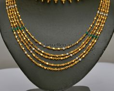 Jewellery Designs: Fancy Chains Gold Chandra Haar