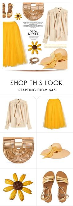 """Sun kissed"" by elisapar ❤ liked on Polyvore featuring Joseph, N°21, Cult Gaia, Sensi Studio, Billabong, Lizzy James and basketbags"