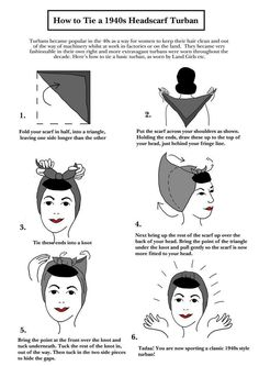 How To Tie A 1940s Headscarf.