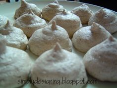 Chocolate Almond Meringues, tasty treat, so simple to make and diabetic-friendly
