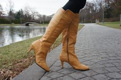 Camel colored boots. J. Renee