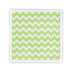 Fabulous Chevron Acrylic Serving Tray by Siberianmom of Zazzle.com