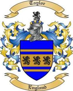 Taylor Family Coat of Arms from England