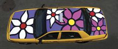 "Portraits of Hope, ""Garden in Transit,"" NYC Taxi, Flower Taxi."