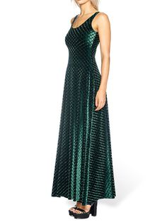 Embossed Velvet Reptilian Maxi Dress - LIMITED (AU $120AUD) by Black Milk Clothing