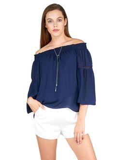 Silk Georgette Off Shoulder Blouse Love Sam, Off Shoulder Blouse, Ruffle Blouse, Silk, Tops, Women, Fashion, Moda, Women's
