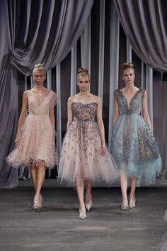 Christian Siriano SS2013 // I have a 1960s prom dress almost just like the blue one back at my parents house.