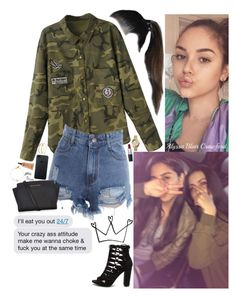 """""""When I get you out them clothes girl I swear it's fuccking magic."""" by allie-blair ❤ liked on Polyvore featuring M.A.C, Trish McEvoy, MICHAEL Michael Kors, Michael Kors, Pieces, MAC Cosmetics and Latelita"""