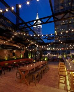 Refinery hotel rooftop lounge
