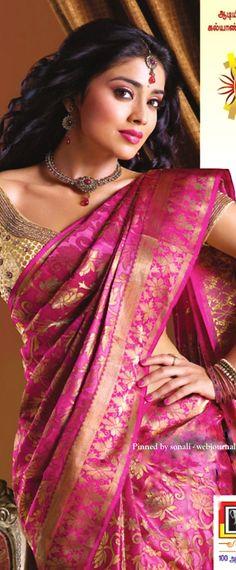 Shriya Saran in Kalyan silk saree