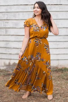 You are my Sunshine Floral Maxi Dress Floral Maxi Dress, Boho Dress, Dress Skirt, Knot Dress, Lace Maxi, Simple Dresses, Casual Dresses, Dresses With Sleeves, Maxi Dresses