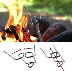 camping fire fork