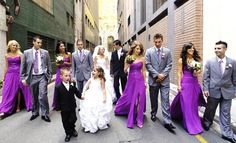 nice gowns in a pinky-purple