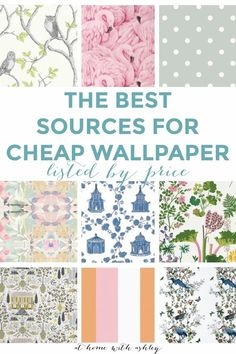 The best places to buy affordable wallpaper from the cheapest to most expensive shops with prices per square foot so you can get the best deal! I share paste options and peel and stick products that are cheap. Where to find inexpensive, beautiful wallpaper online. My tips will show you how I've made my wallpaper dreams come true on a budget. I share my sources for home decor wallpaper products that will add beautiful and modern patterns to your design.