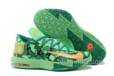 "check out 53398 85f98 Nike Kevin Durant KD 6 VI ""Easter"" Light Lucid Green Atomic Mango-Lucid  Green-Gorge Green-Black New"