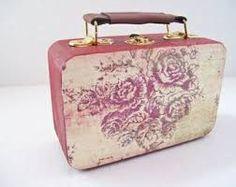 Decoupage Suitcase, Vintage Suitcases