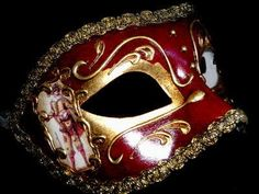 Commedia Masquerade Mask - Red Limited Edition