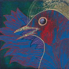 Liz Yarosz-Ash,  Avem #4,  5 x 5, Acrylic and gold leaf on panel,  2013