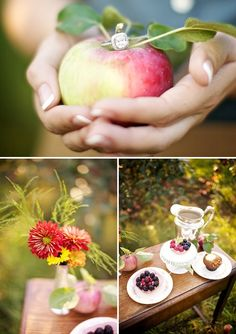 """DEAR TKB: """"I'd like to do something different for our engagement session. Any ideas?"""" + The Apple Orchard E-Shoot of Melissa + Jon 