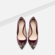 Image 7 of EMBROIDERED HIGH HEEL SHOES from Zara