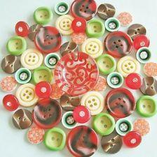 Lot 52 mix vintage new assorted plastic buttons w/ rhinestone PML005