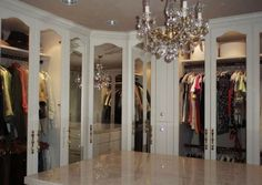 walk-in closet features | glass cabinets  white cabinets | closet chandelier | shoe storage | high heels | bags | purses | storage | organization | celebrity closet | walk-in closet features | walk-in closet | walk in closet | closets | boutique closet | dream closet | luxurious closet | dream closet | organization | awesome closet | boutique walk-in closet | the house candy | house candy