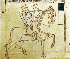En signe de pauvreté, les Templiers avaient coutûme de monter un même cheval à deux
