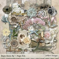 November 6 Daily Deal: Days Gone By by Laitha's Designs.  #thestudio #digitalscrapbooking  #dailydeal