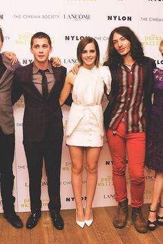 Logan Lerman, Emma Watson, & Ezra Miller