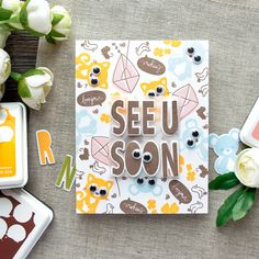 WPlus9 | See You Soon - Googly Eyes Card Whimsy alpha Alphabet