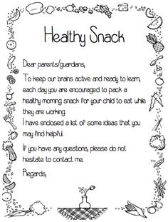 This is a welcome letter for first grade i usually send this home healthy snack note a great resource to add to your new student welcome altavistaventures Gallery