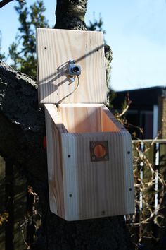 Birdhouse with camera built in