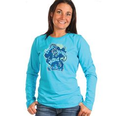 Peace Frogs Ladies Free Your Mind Crew Neck Long Sleeve T-Shirt
