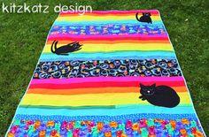 Rainbow Cats Quilt
