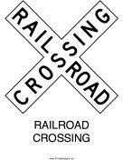 Railroad Crossing-X
