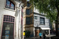 Around Rouen old town, Rouen France Day Trip, Old Town, Cathedral, Street View, Europe, France, Places, Cathedrals, Early French