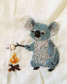 Koala bear embroidery