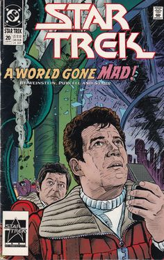EUC Star Trek DC Comic Book 20 Jun 1991 A World Gone Mad! vintage collectible Comic book has been in sleeve since purchase. Star Trek Characters, Comic Book Collection, Dc Comic Books, Star Trek Enterprise, Star Trek Tos, Dc Comics, Sci Fi, Stars, World
