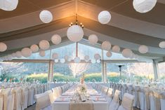 Marquee wedding decor - Hanging lanterns - The Winehouse - Simply Perfect Weddings - Queenstown, New Zealand Reception Design, Wedding Decorations, Table Decorations, Marquee Wedding, Hanging Lanterns, Perfect Wedding, Wedding Planner, Stylists, Ceiling Lights