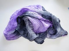 handpainted womans silk scarf grey lilac silk Scarf от batikelena