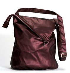 PURPLE Messenger bag Vegan purse comfortable by estelladesign, $94.00