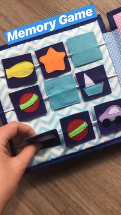 Quiet Book Page Busy book idea toddler activity book memory game Personalized Quiet book pikabook on sale Just 49 99 Great gift idea for baby and toddler Diy Quiet Books, Baby Quiet Book, Felt Quiet Books, Diy Busy Books, Sensory Book, Baby Sensory Board, Quiet Book Patterns, Felt Board Patterns, Quiet Book Templates